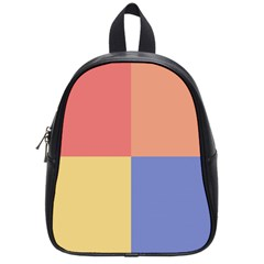 4 Squares			school Bag (small) by LalyLauraFLM