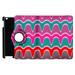 Waves Pattern			apple Ipad 2 Flip 360 Case by LalyLauraFLM
