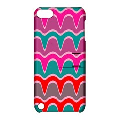 Waves Pattern			apple Ipod Touch 5 Hardshell Case With Stand by LalyLauraFLM