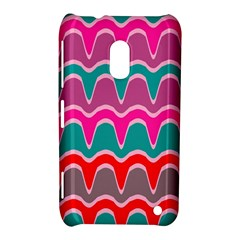 Waves Patternnokia Lumia 620 Hardshell Case by LalyLauraFLM
