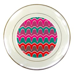 Waves Patternporcelain Plate
