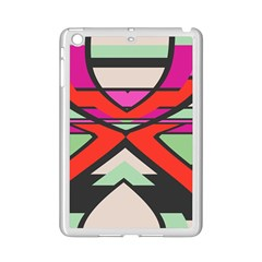 Shapes In Retro Colors			apple Ipad Mini 2 Case (white) by LalyLauraFLM