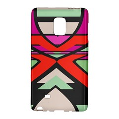 Shapes In Retro Colorssamsung Galaxy Note Edge Hardshell Case by LalyLauraFLM