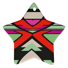 Shapes In Retro Colors			ornament (star) by LalyLauraFLM