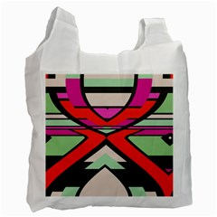 Shapes In Retro Colors			recycle Bag (one Side) by LalyLauraFLM
