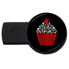 Skull Cupcake Usb Flash Drive Round (4 Gb) by waywardmuse