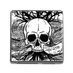 Skull & Books Memory Card Reader (Square)