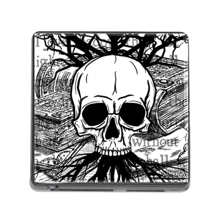 Skull & Books Memory Card Reader (Square)