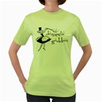 Domestic Goddess Women s Green T-Shirt