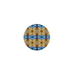 Gold And Blue Elegant Pattern 1  Mini Magnets by Costasonlineshop