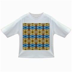 Gold And Blue Elegant Pattern Infant/toddler T Shirts by Costasonlineshop