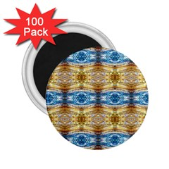Gold And Blue Elegant Pattern 2 25  Magnets (100 Pack)  by Costasonlineshop