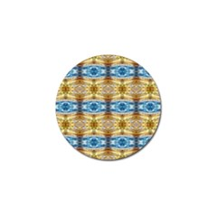 Gold And Blue Elegant Pattern Golf Ball Marker (10 Pack) by Costasonlineshop