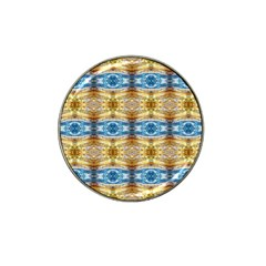 Gold And Blue Elegant Pattern Hat Clip Ball Marker by Costasonlineshop