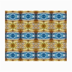 Gold And Blue Elegant Pattern Small Glasses Cloth
