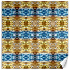 Gold And Blue Elegant Pattern Canvas 16  X 16