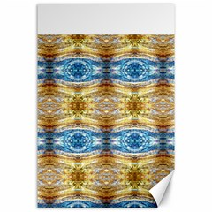 Gold And Blue Elegant Pattern Canvas 24  X 36