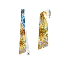 Gold And Blue Elegant Pattern Neckties (one Side)  by Costasonlineshop