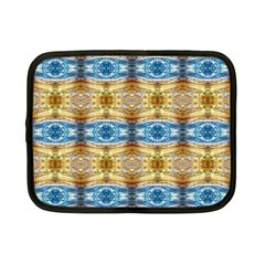 Gold And Blue Elegant Pattern Netbook Case (small)
