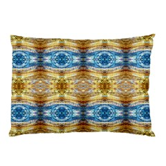 Gold And Blue Elegant Pattern Pillow Cases by Costasonlineshop