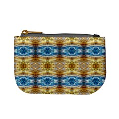 Gold And Blue Elegant Pattern Mini Coin Purses