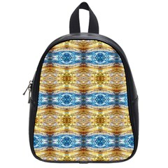 Gold And Blue Elegant Pattern School Bags (small)  by Costasonlineshop