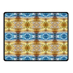 Gold And Blue Elegant Pattern Fleece Blanket (small)
