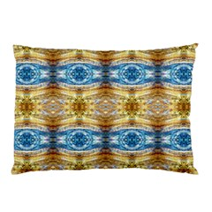Gold And Blue Elegant Pattern Pillow Cases (Two Sides) by Costasonlineshop