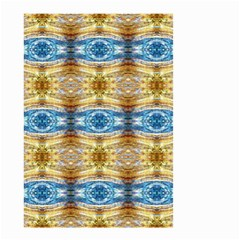 Gold And Blue Elegant Pattern Small Garden Flag (two Sides) by Costasonlineshop