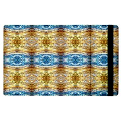 Gold And Blue Elegant Pattern Apple Ipad 3/4 Flip Case by Costasonlineshop