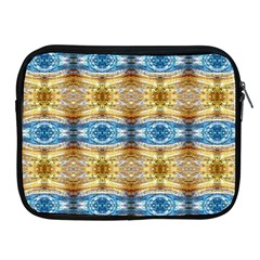 Gold And Blue Elegant Pattern Apple Ipad 2/3/4 Zipper Cases by Costasonlineshop