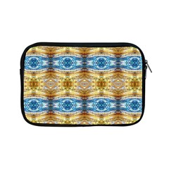 Gold And Blue Elegant Pattern Apple Ipad Mini Zipper Cases