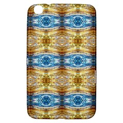 Gold And Blue Elegant Pattern Samsung Galaxy Tab 3 (8 ) T3100 Hardshell Case