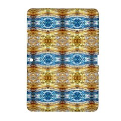 Gold And Blue Elegant Pattern Samsung Galaxy Tab 2 (10 1 ) P5100 Hardshell Case  by Costasonlineshop