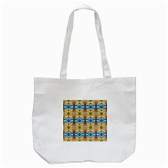 Gold And Blue Elegant Pattern Tote Bag (white)  by Costasonlineshop