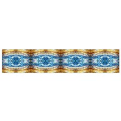 Gold And Blue Elegant Pattern Flano Scarf (small)