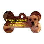 frankie 1 side - Dog Tag Bone (One Side)