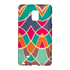 Wavy Design			samsung Galaxy Note Edge Hardshell Case by LalyLauraFLM