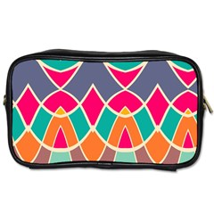 Wavy Design Toiletries Bag (two Sides) by LalyLauraFLM