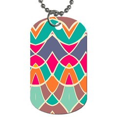 Wavy Design			dog Tag (one Side) by LalyLauraFLM