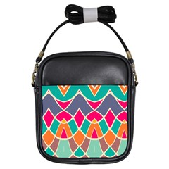 Wavy Design			girls Sling Bag by LalyLauraFLM