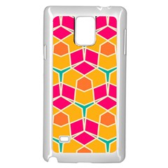 Shapes in retro colors pattern			Samsung Galaxy Note 4 Case (White) by LalyLauraFLM