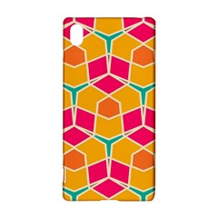 Shapes In Retro Colors Patternsony Xperia Z3+ Hardshell Case by LalyLauraFLM
