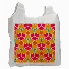 Shapes In Retro Colors Pattern Recycle Bag by LalyLauraFLM