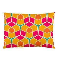 Shapes In Retro Colors Patternpillow Case by LalyLauraFLM