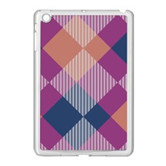 Argyle Variation			apple Ipad Mini Case (white) by LalyLauraFLM