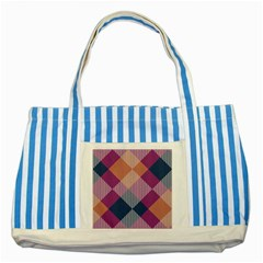 Argyle Variationstriped Blue Tote Bag by LalyLauraFLM