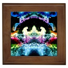 Space Cosmos Black Blue White Red Framed Tiles by Costasonlineshop