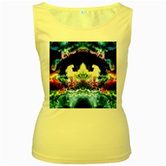 Space Cosmos Black Blue White Red Women s Yellow Tank Tops