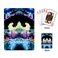 Space Cosmos Black Blue White Red Playing Card
